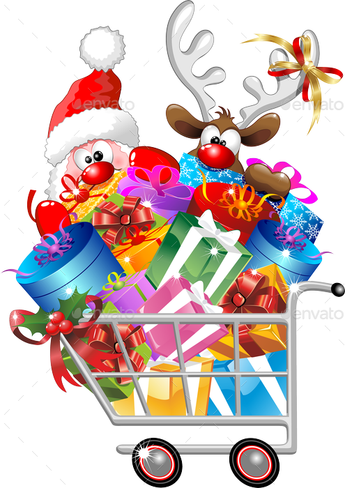 Christmas shopping clipart clipart library Christmas Shopping Images Group (73+) clipart library