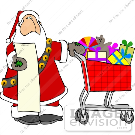 Christmas shopping list clipart image freeuse download Christmas shopping list clipart - ClipartFest image freeuse download