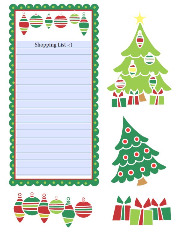 Christmas shopping list clipart png free download 10 best images about Scrapbook - Vintage Xmas on Pinterest ... png free download