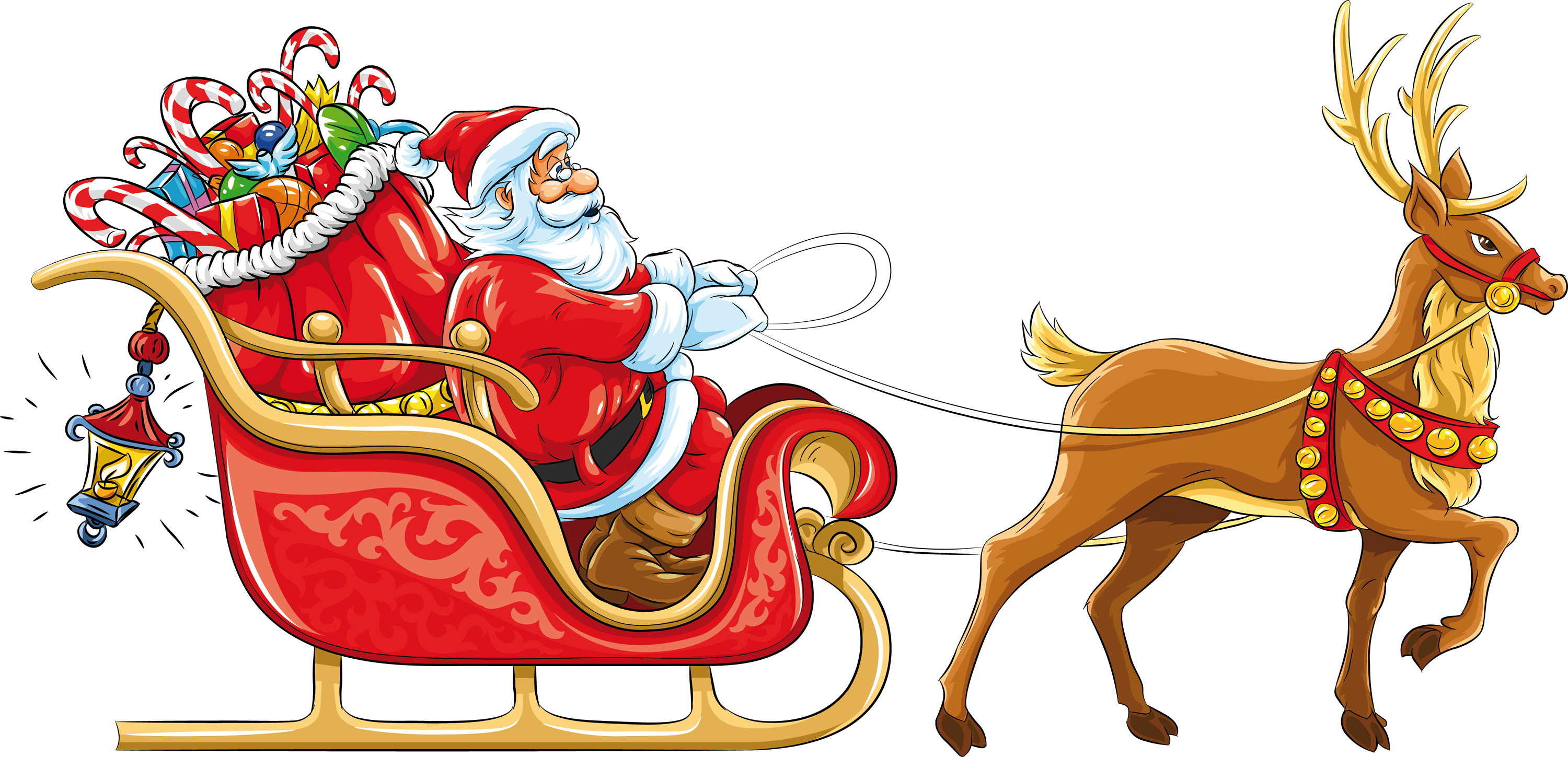 Christmas song clipart image royalty free Santa sleigh PNG images free download image royalty free