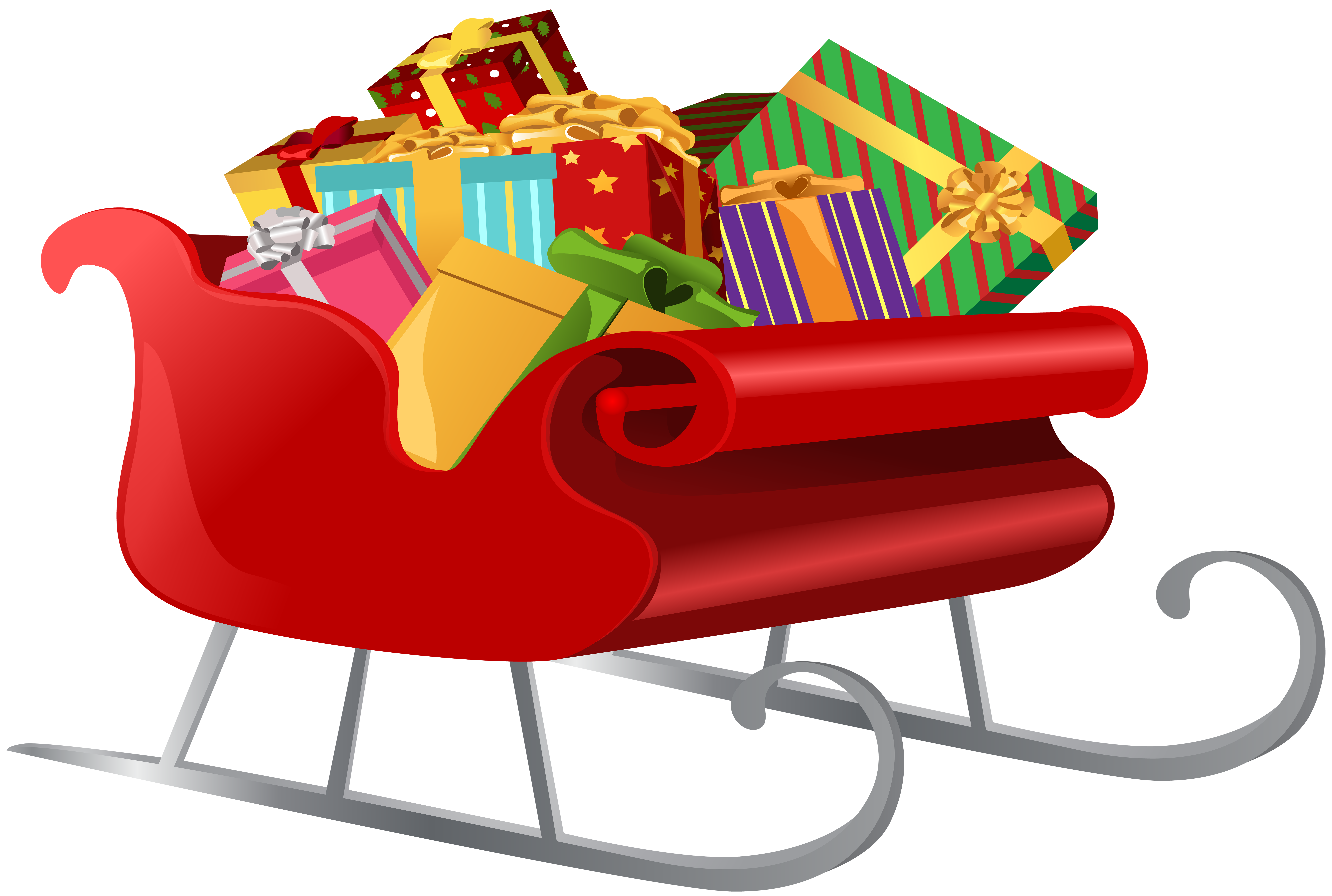 Christmas sleighs clipart clipart royalty free library Santa Sleigh with Gifts PNG Clip Art Image | Gallery Yopriceville ... clipart royalty free library