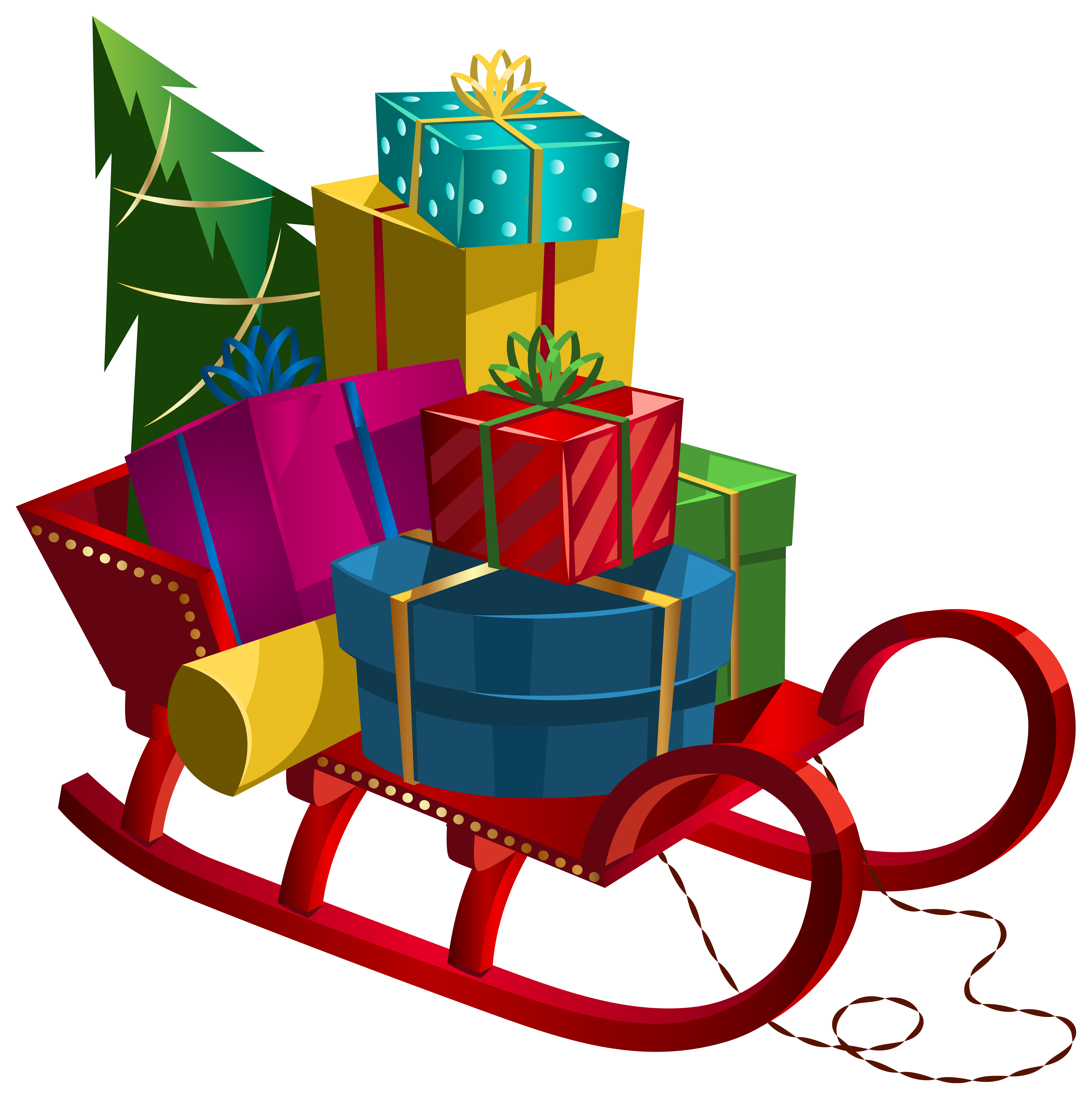 Clipart christmas toys svg free stock Christmas Sleigh with Gifts PNG Clip-Art Image | Gallery ... svg free stock