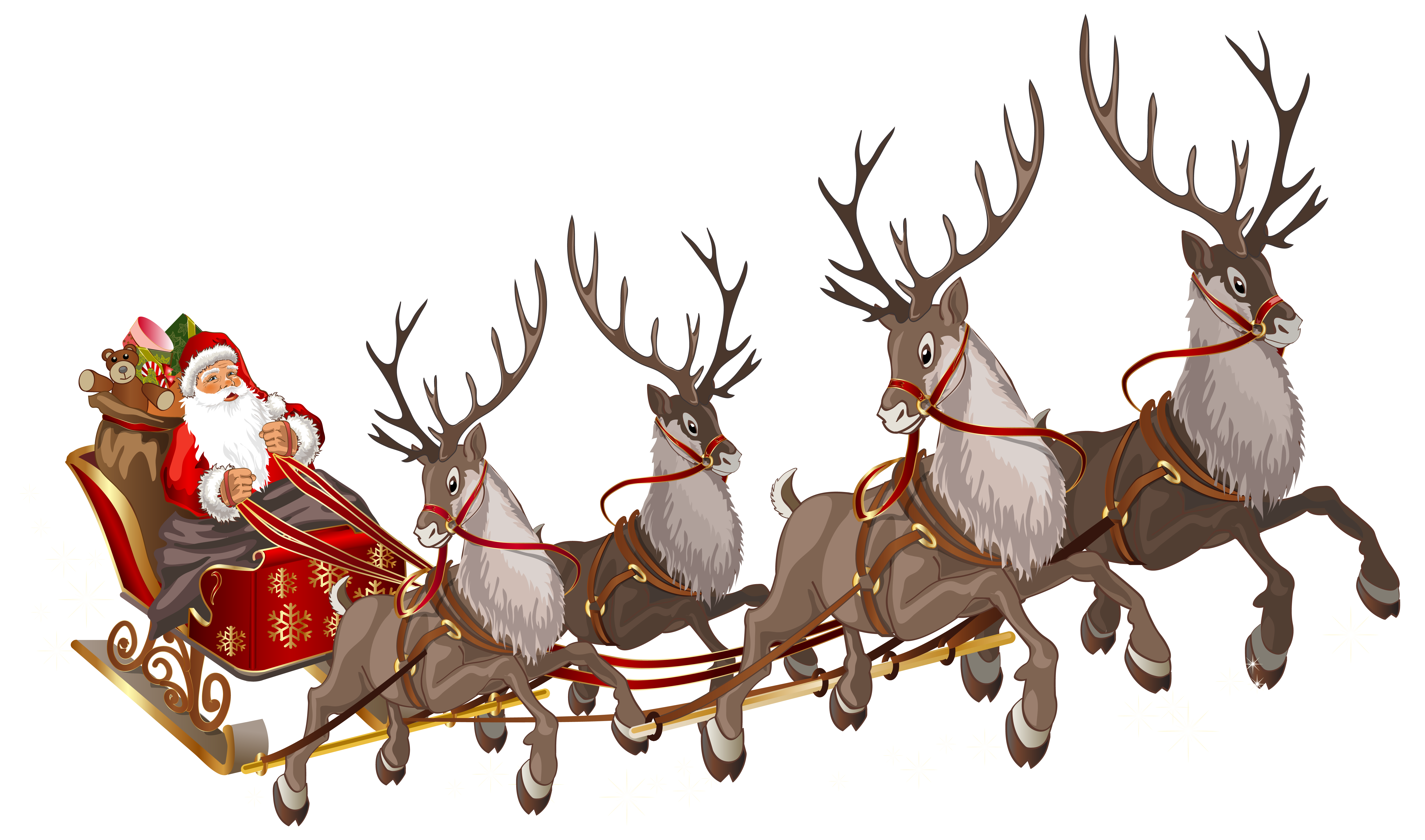 Christmas sleighs clipart banner free download Santa Claus with Sleigh PNG Clipart Image | Gallery Yopriceville ... banner free download
