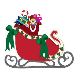 Sled clipart 300x300 vector transparent stock Free Clipart Santa Sleigh | Free download best Free Clipart Santa ... vector transparent stock