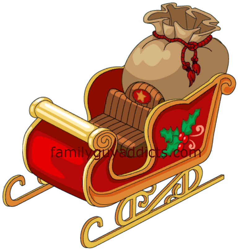 Christmas sleighs clipart picture library stock Quahog Christmas Quick Walkthroughs: The Elves..Santa & Peter ... picture library stock
