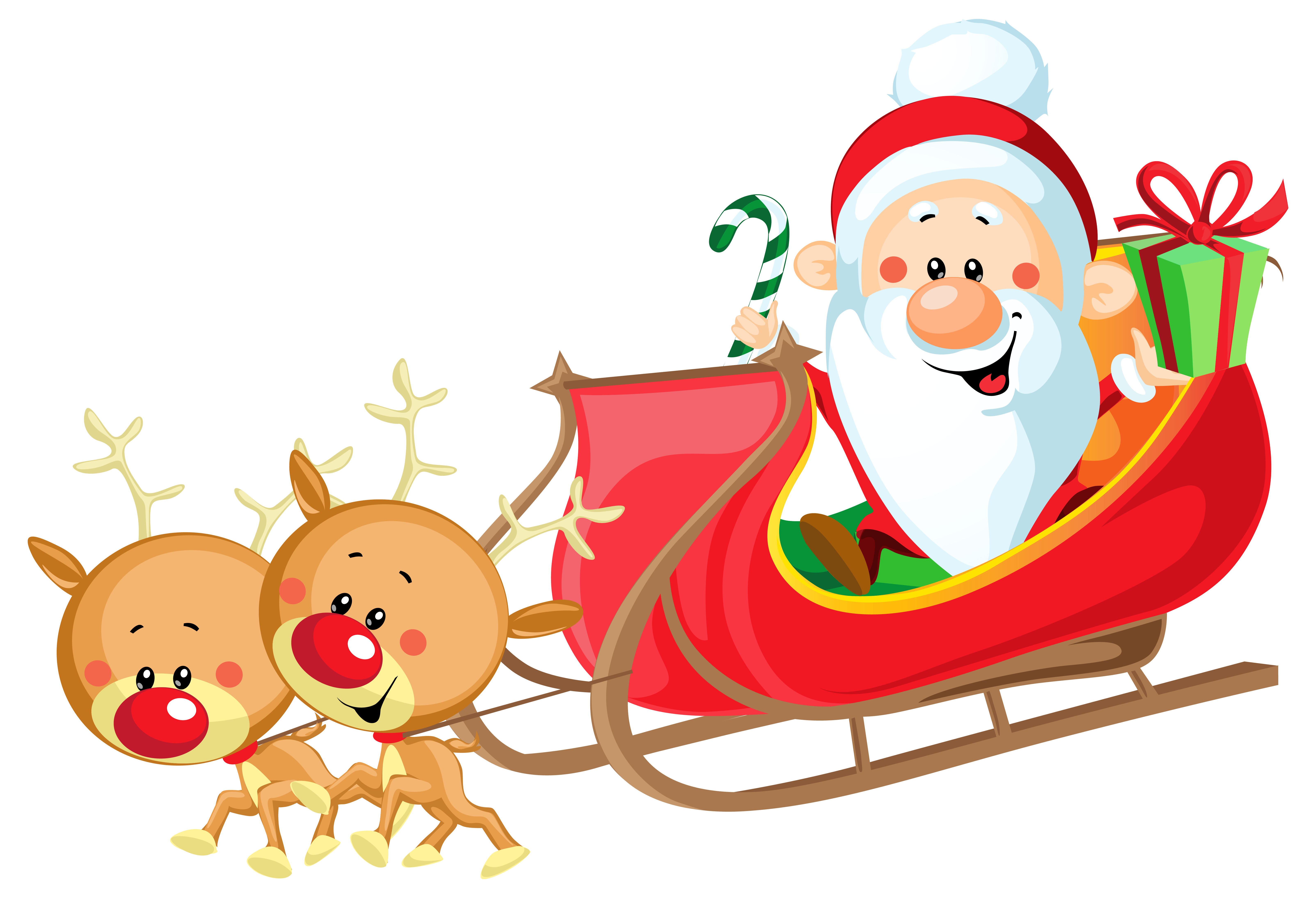 Christmas sleighs clipart jpg library download 28+ Collection of Santa On Sleigh Clipart | High quality, free ... jpg library download