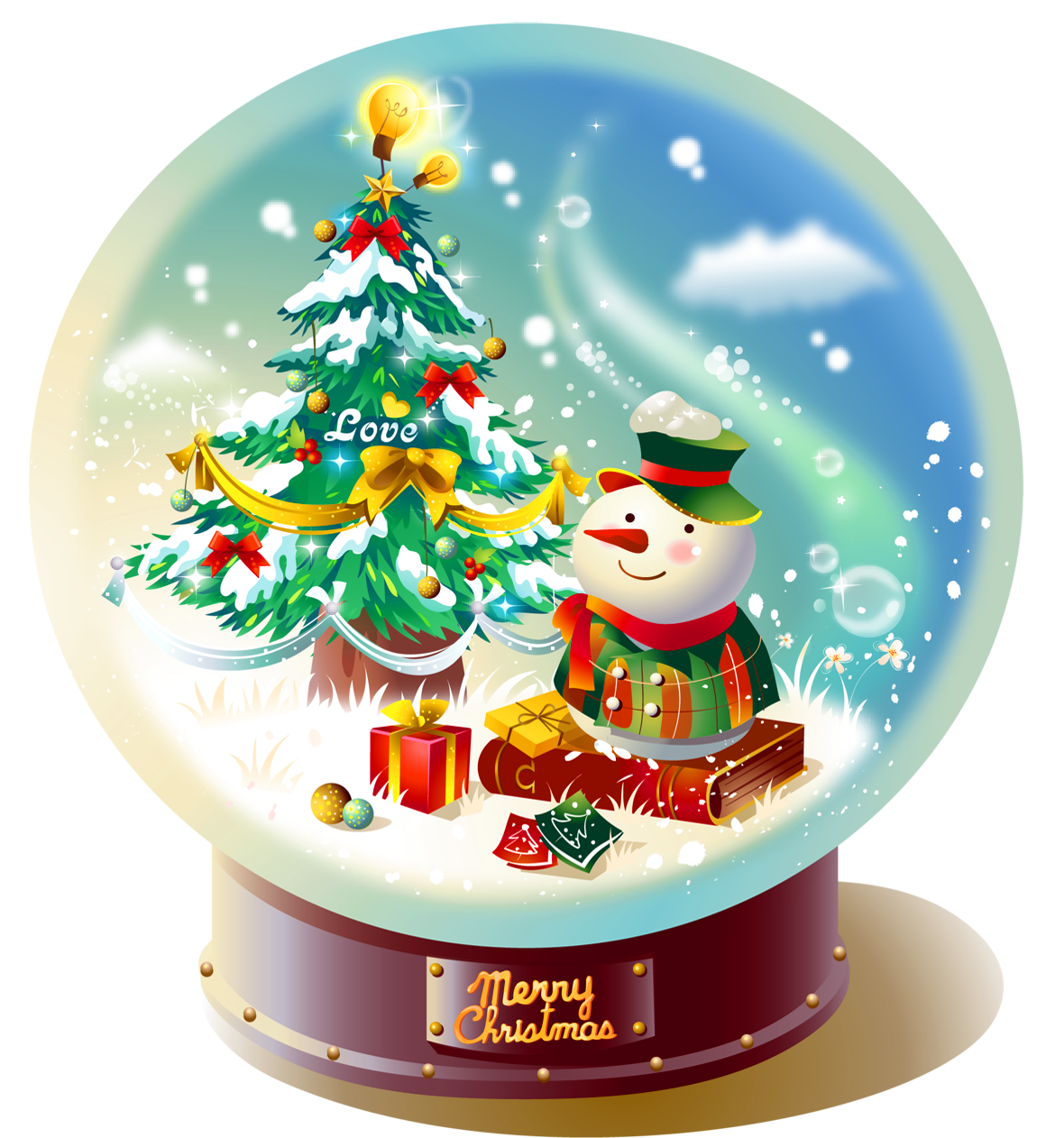 Christmas snow globe clipart banner freeuse download Transparent Christmas Snowglobe with Snowman PNG Picture | Gallery ... banner freeuse download