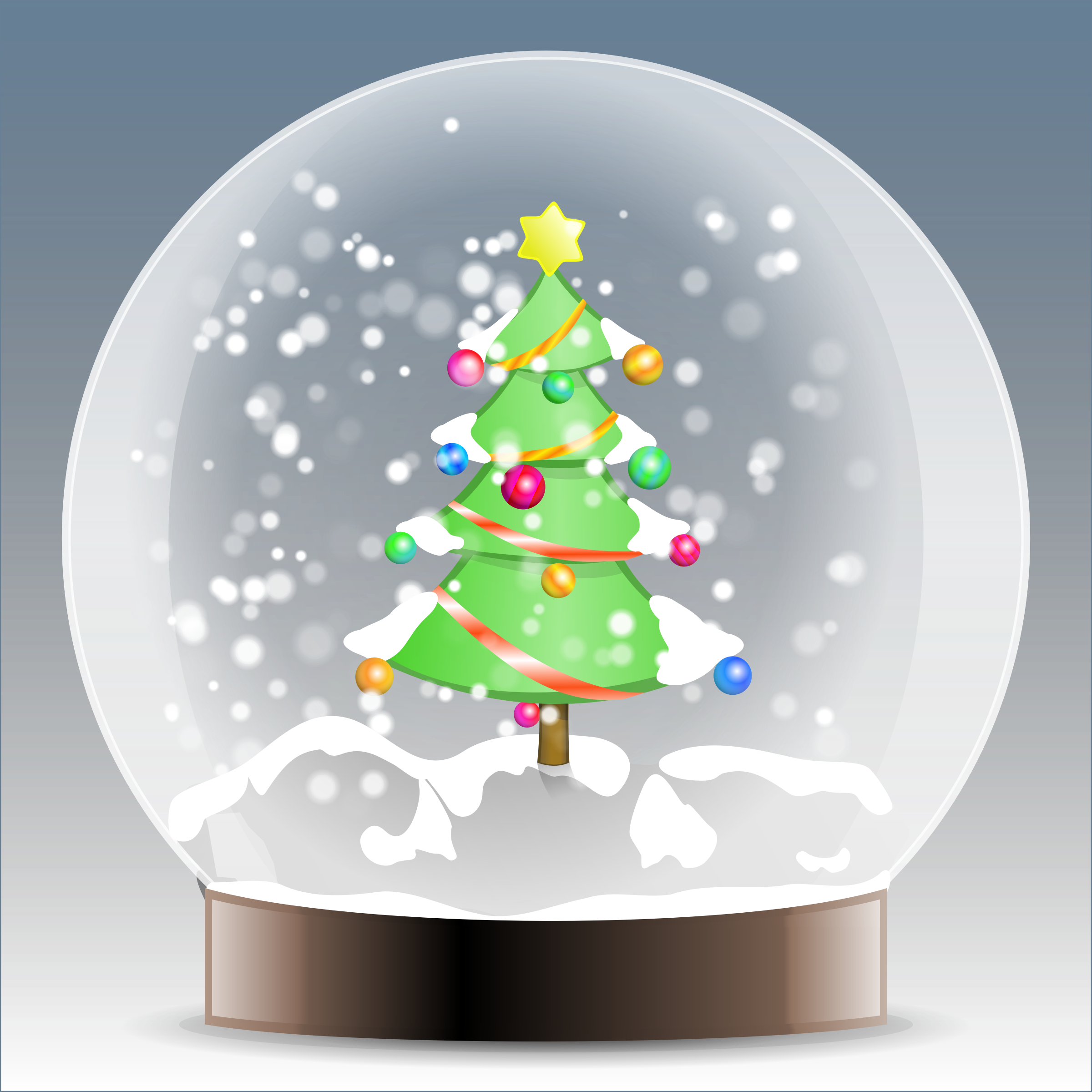 Tree with snow clipart image black and white library Clipart - Christmas tree snow globe image black and white library