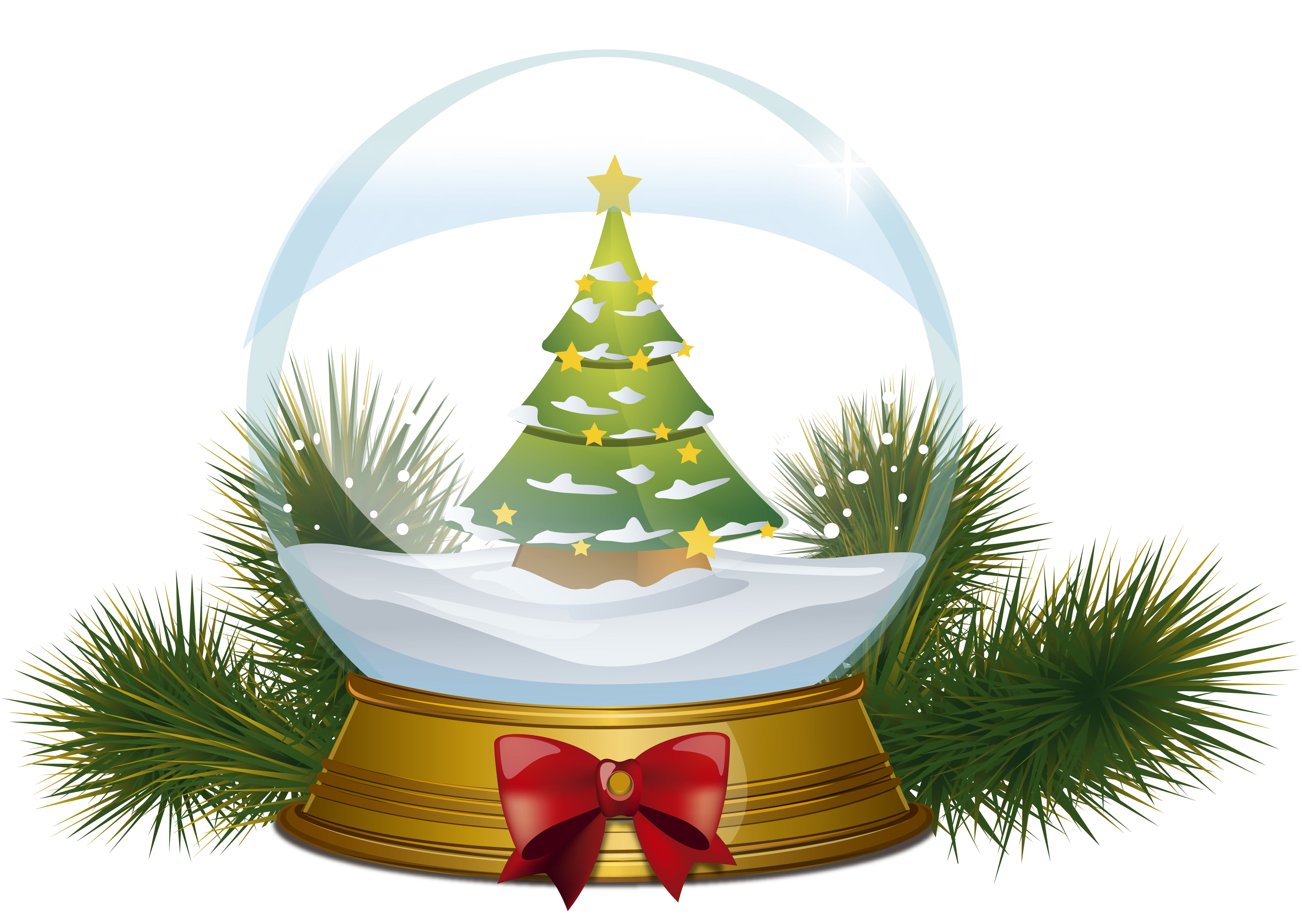 Snow tree clipart clipart royalty free stock Christmas Tree Snowglobe PNG Clipart Image | Gallery Yopriceville ... clipart royalty free stock