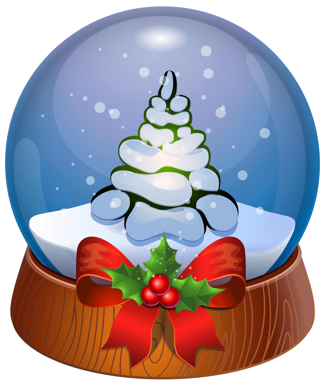 Christmas snow globe clipart svg black and white stock Christmas Tree Snow Globe Transparent PNG Clip Art Image | Gallery ... svg black and white stock