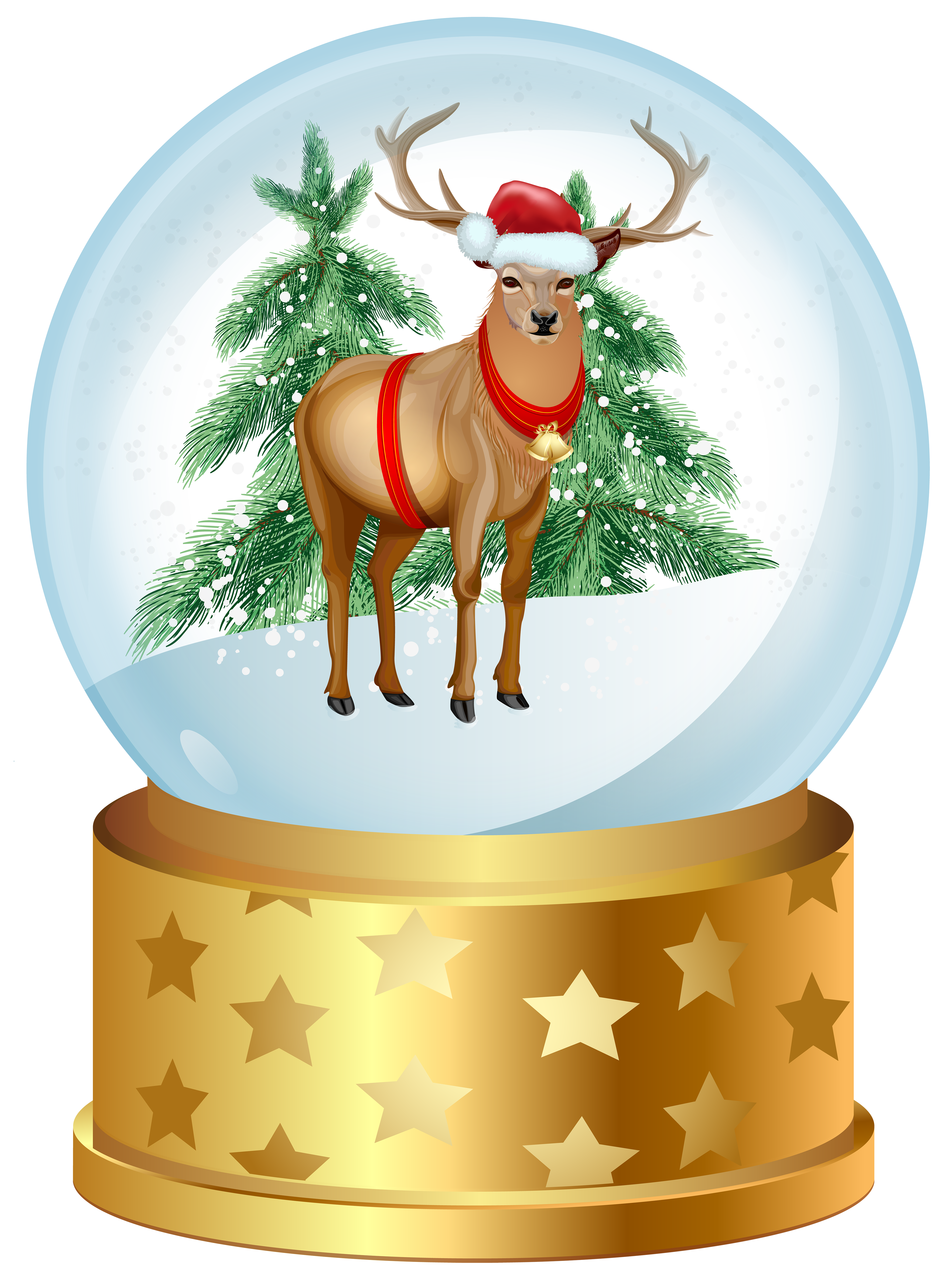 Christmas snow globe clipart picture library Christmas Deer Snow Globe PNG Clip Art Image | Gallery Yopriceville ... picture library
