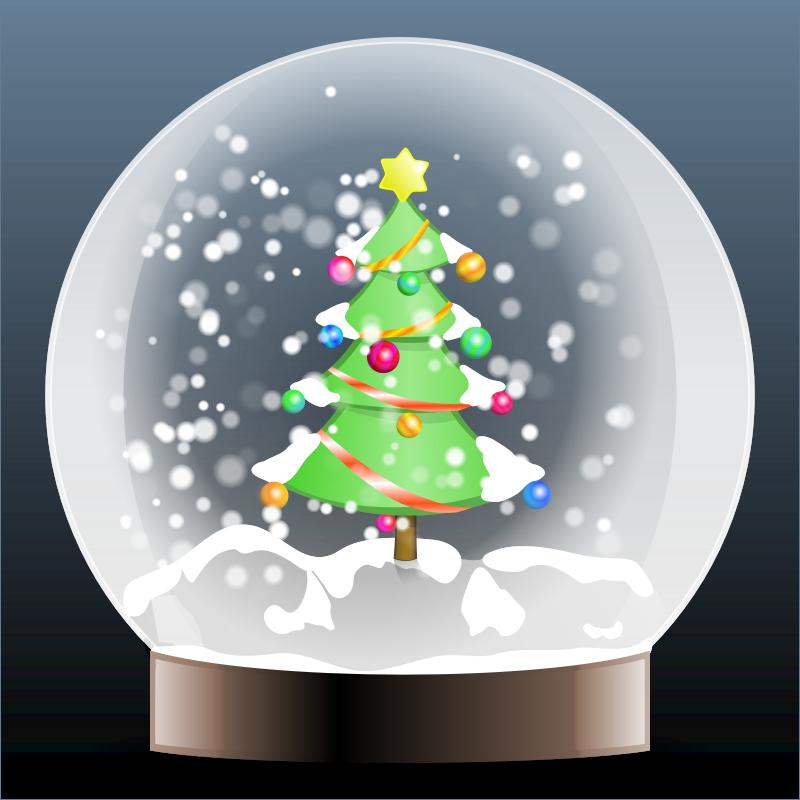 Christmas snow globe clipart clipart freeuse stock Clipart - Christmas tree snow globe clipart freeuse stock