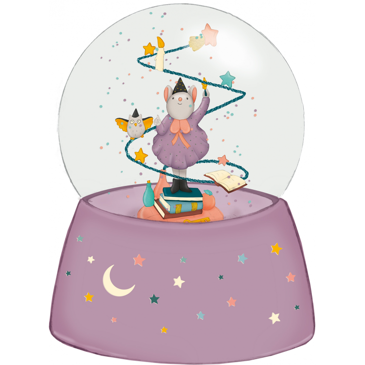Christmas snow globe clipart graphic free library Moulin Roty Once Upon a Time Musical Snow Globe graphic free library