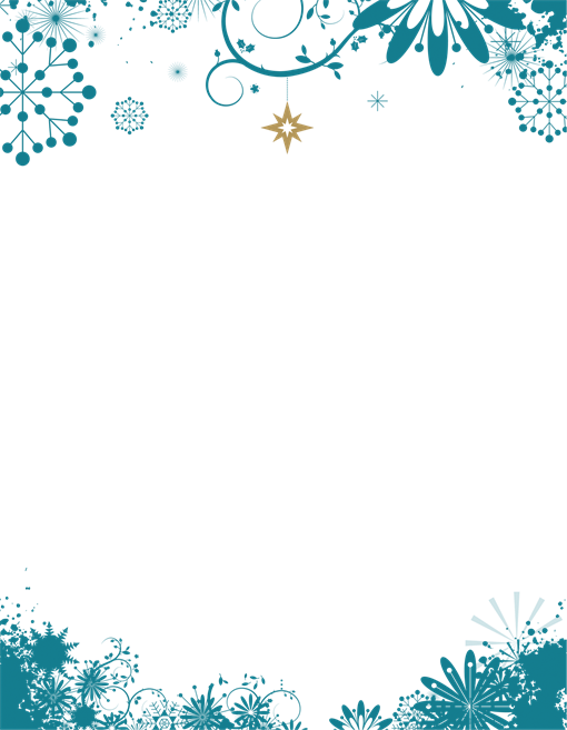Christmas snowflake border clipart envelope clip art black and white library Holiday Letters - Enter your Text | Vector, frames and borders ... clip art black and white library