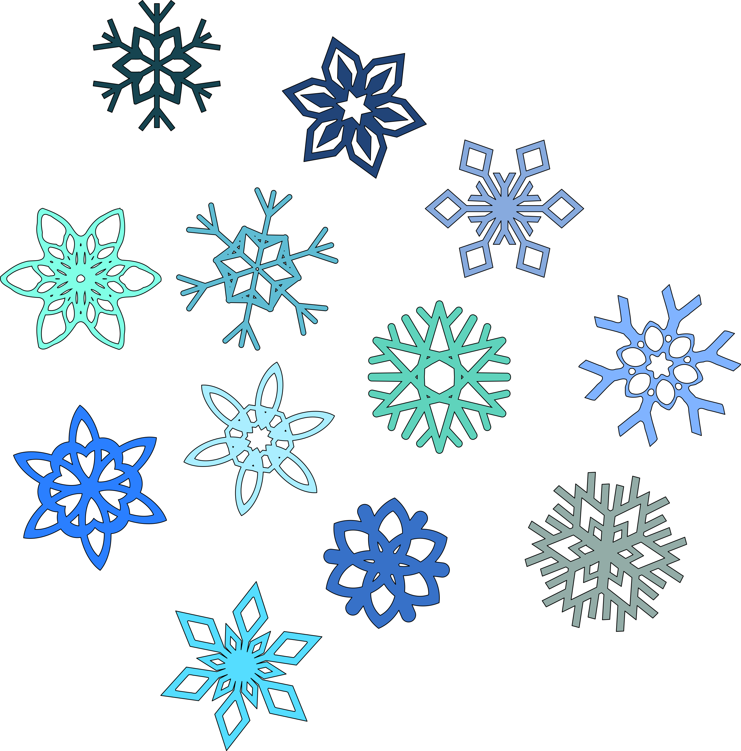 Snow group keeping a. Emotion snowflake clipart