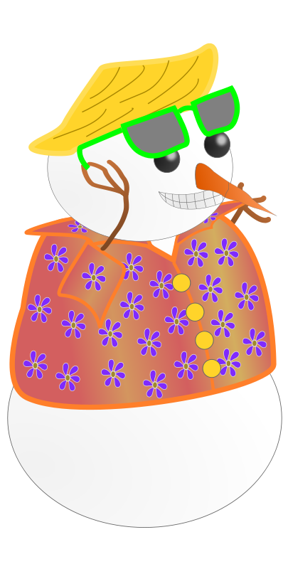 Tropical christmas clipart free Snowman Clipart - Free Winter and Christmas Graphics free