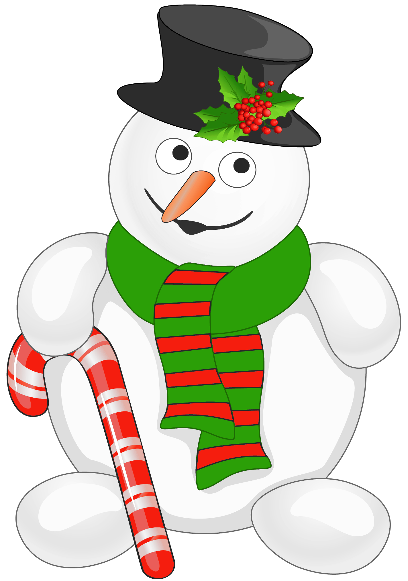Snowman dog clipart clip art transparent library Snowman with Candy Cane PNG Clipart | Gallery Yopriceville - High ... clip art transparent library