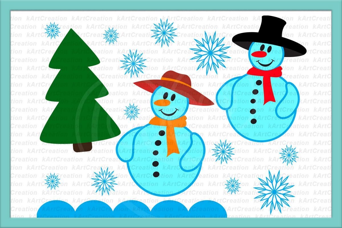 Christmas snowman outline clipart for vinyl cut out jpg royalty free download snowman snow woman Christmas tree snowflakes svg dxf clipart jpg royalty free download