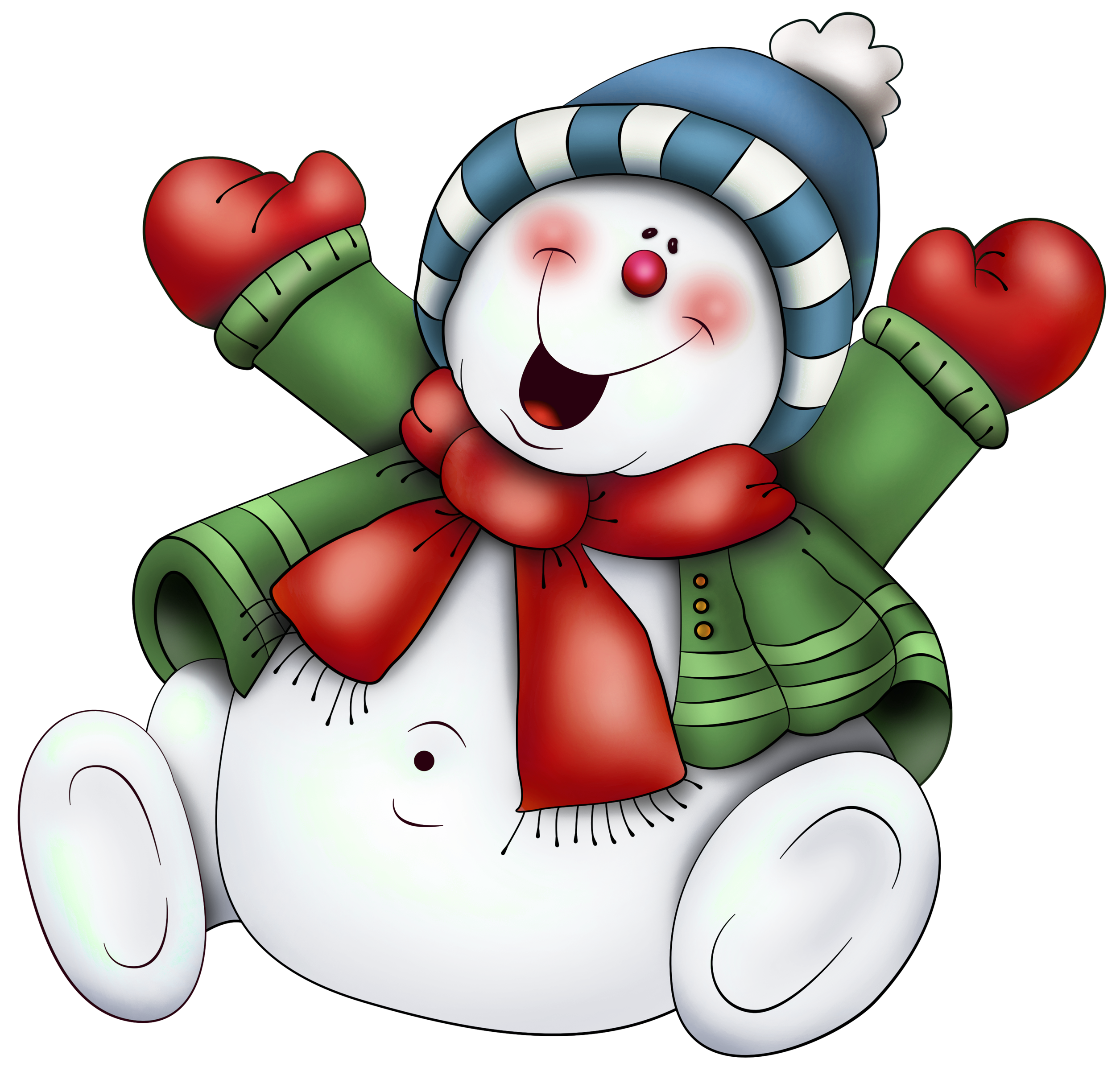 Christmas snowmen clipart vector freeuse Snowman with Scarf PNG Clipart (use on transparencies inside clear ... vector freeuse