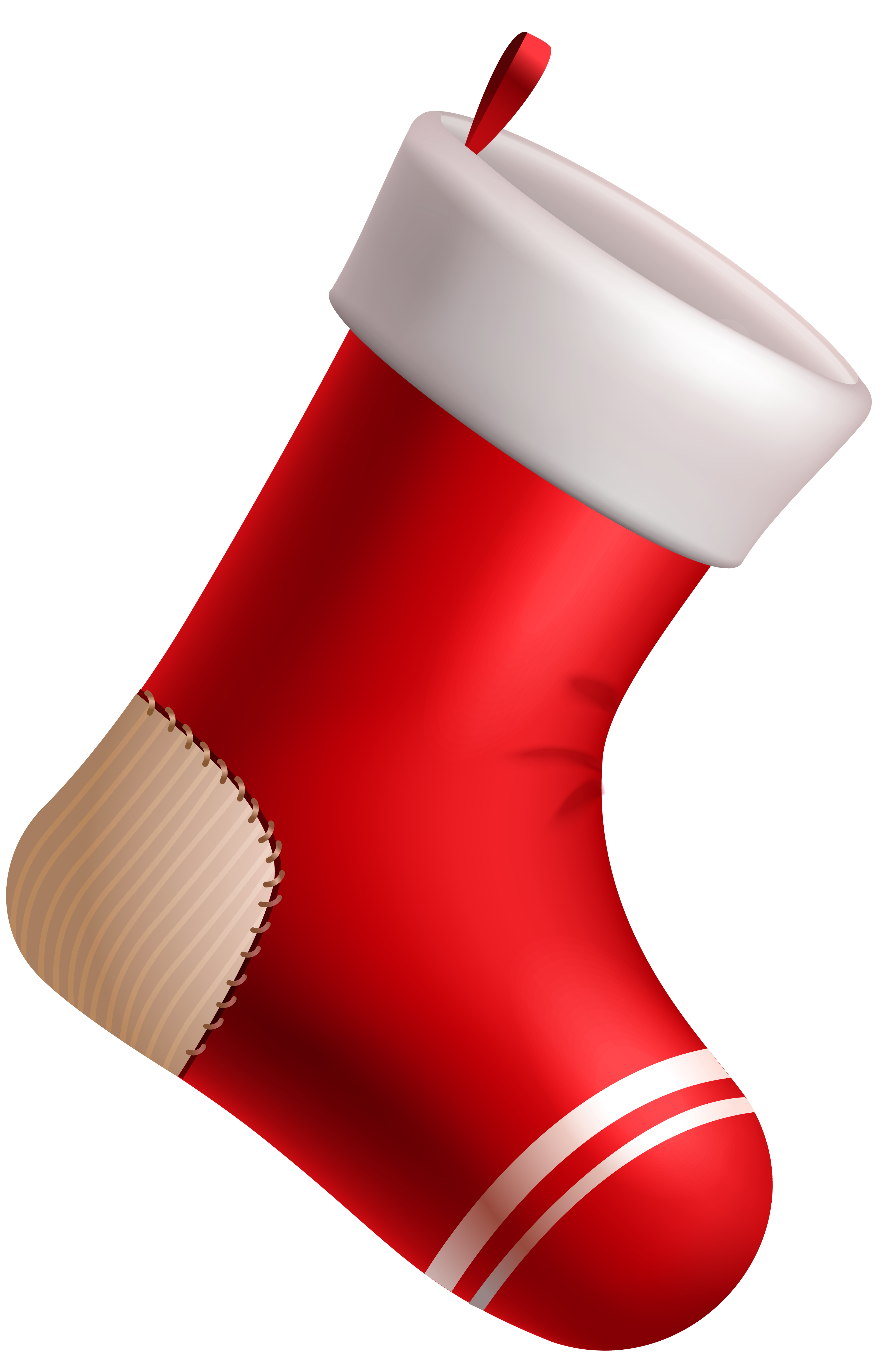 Christmas sock clipart clip black and white Christmas Red Stocking PNG Clipart Image | Gallery Yopriceville ... clip black and white