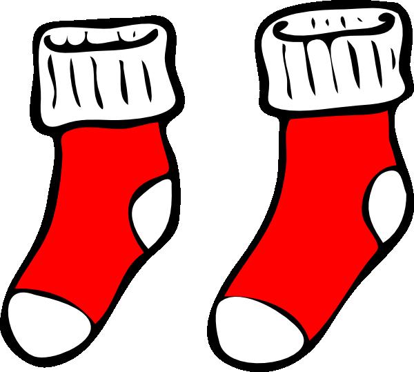 Christmas sock clipart image transparent stock Red Socks Clip Art at Clker.com - vector clip art online, royalty ... image transparent stock