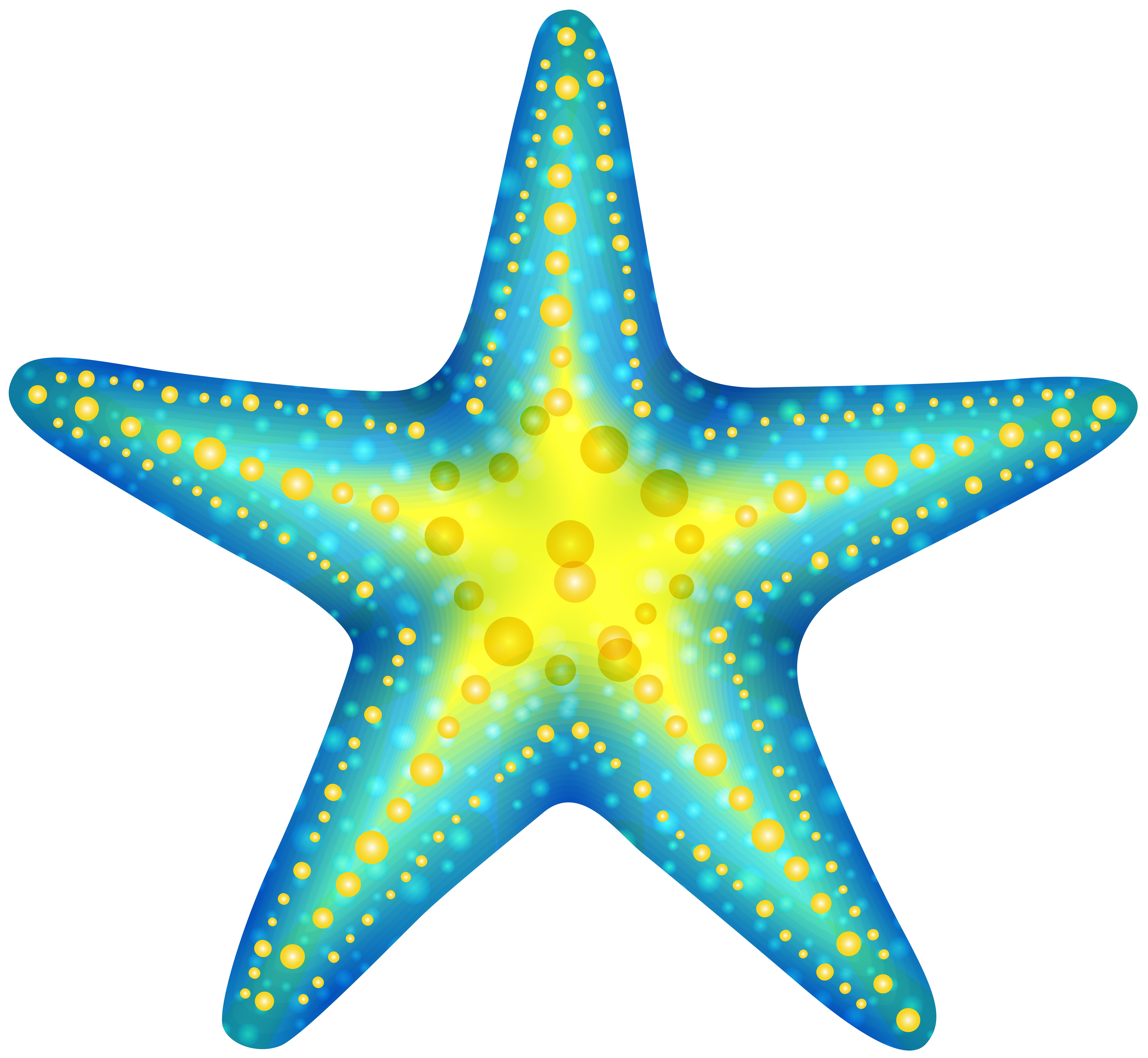 Starfish clipart transparent background image black and white Blue Starfish PNG Clip Art - Best WEB Clipart image black and white