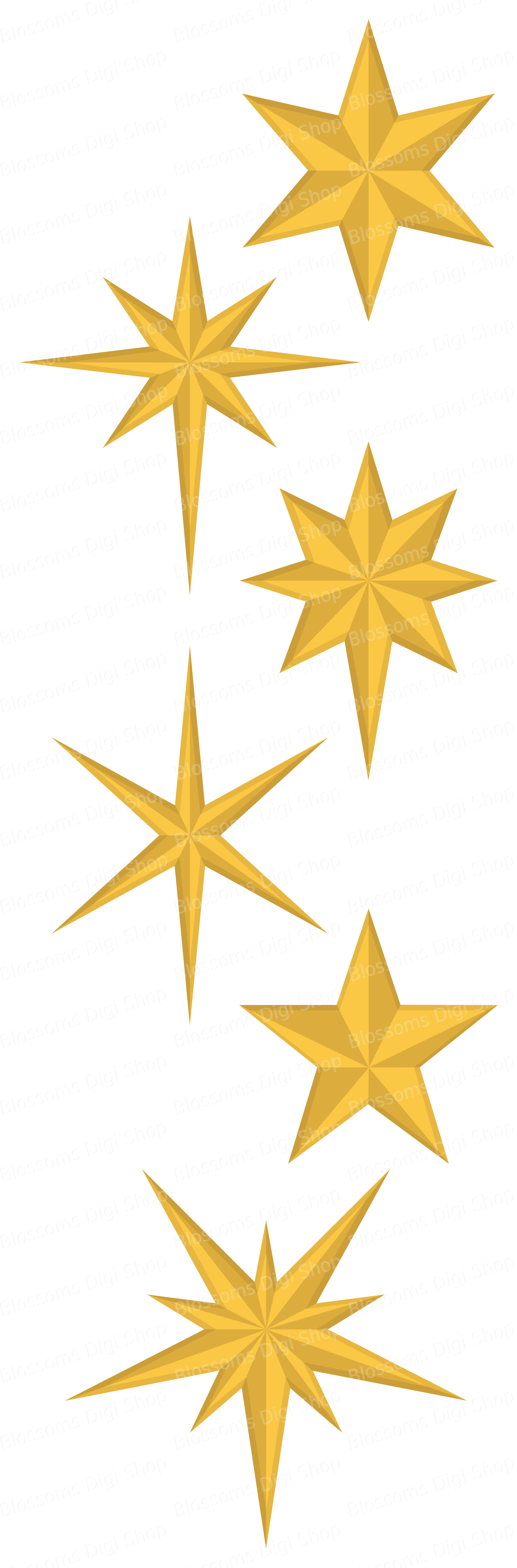 Clipart star christmas jpg library stock Christmas stars clipart, gold star clipart, star elements, star ... jpg library stock