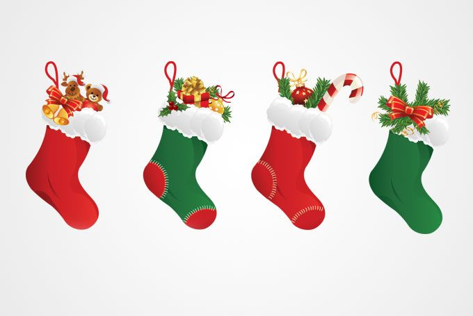 Christmas stockings clipart vector royalty free stock Free Clip Art Christmas Decorations | Christmas Stocking Vector ... royalty free stock