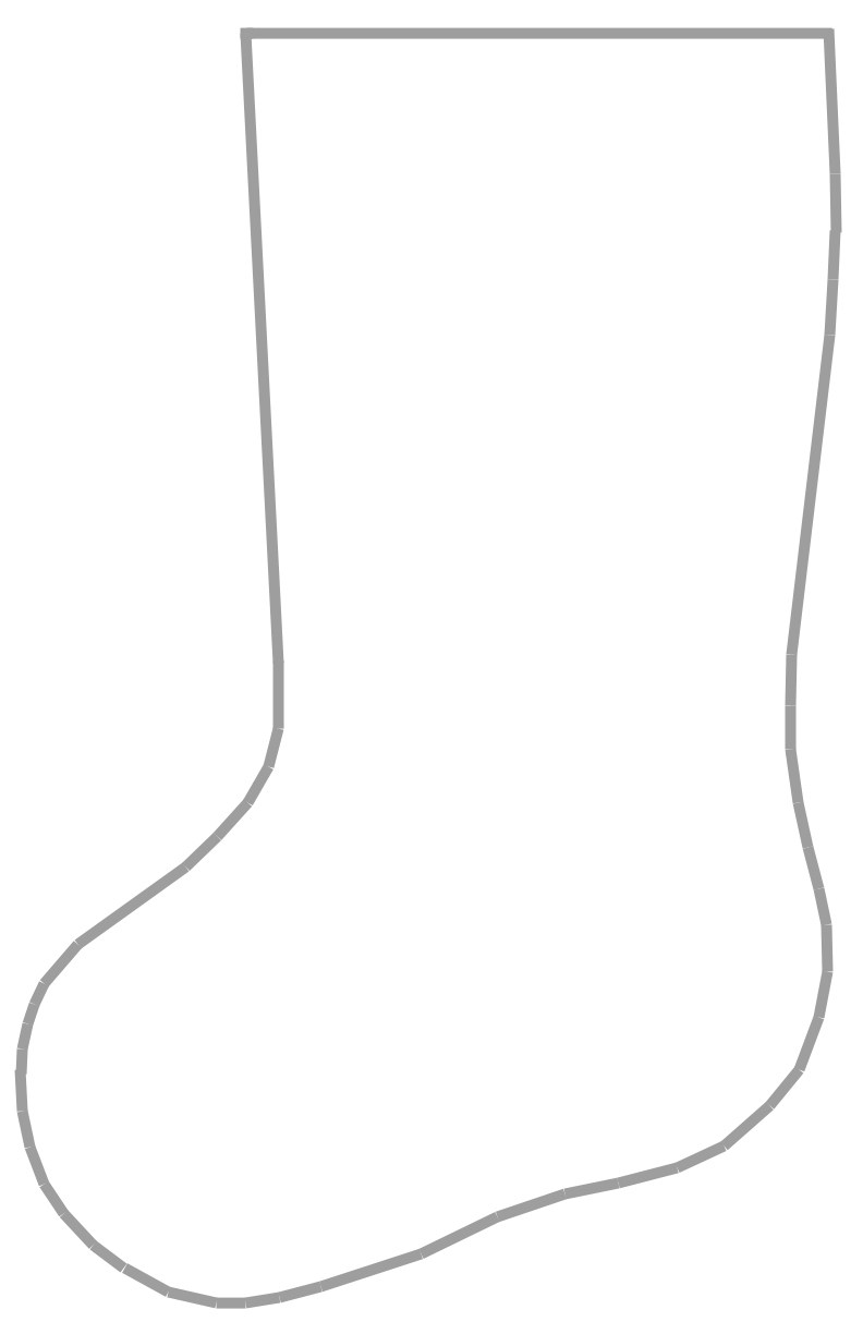 Christmas stocking clipart patterns clip art transparent Large Stocking Template. printable stocking pattern patterns ... clip art transparent