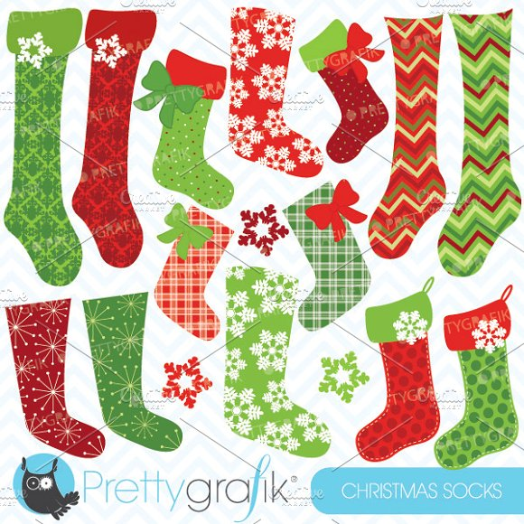 Stockings illustrations on creative. Christmas stocking clipart patterns