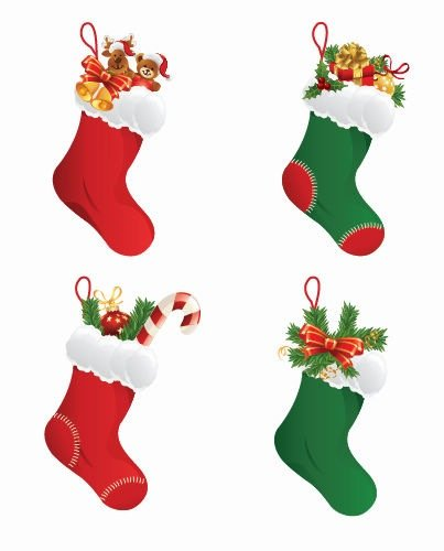 Christmas stockings clipart vector png transparent library Free Christmas Stockings Clipart and Vector Graphics - Clipart.me png transparent library