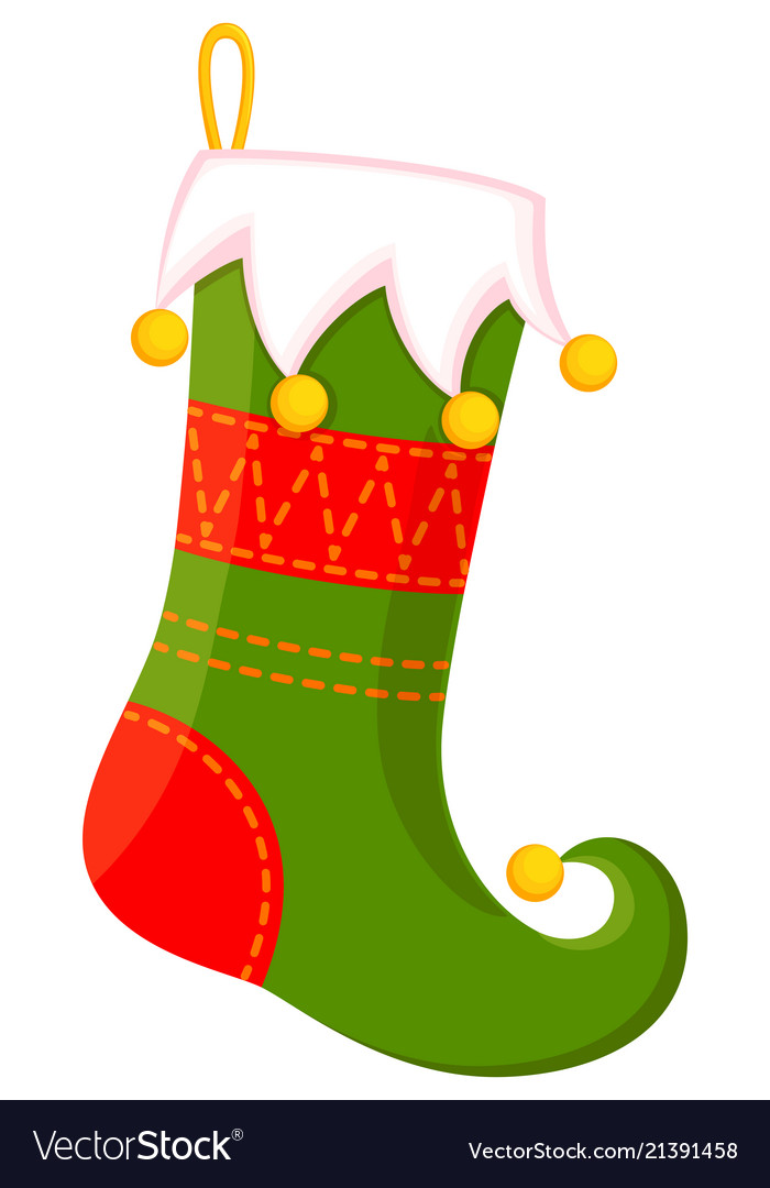 Christmas stockings clipart vector royalty free Colorful cartoon cute christmas stocking royalty free