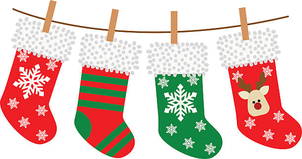 Christmas stockings clipart vector jpg library stock Free Clipart Christmas Stocking at GetDrawings.com | Free for ... jpg library stock