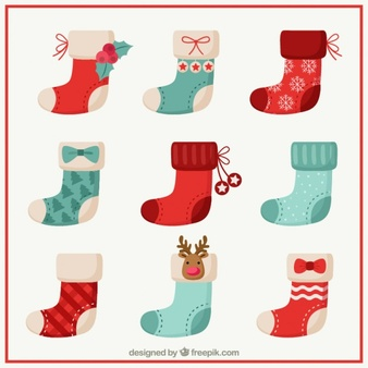 Christmas stockings clipart vector black and white Christmas Socks Vectors, Photos and PSD files | Free Download black and white