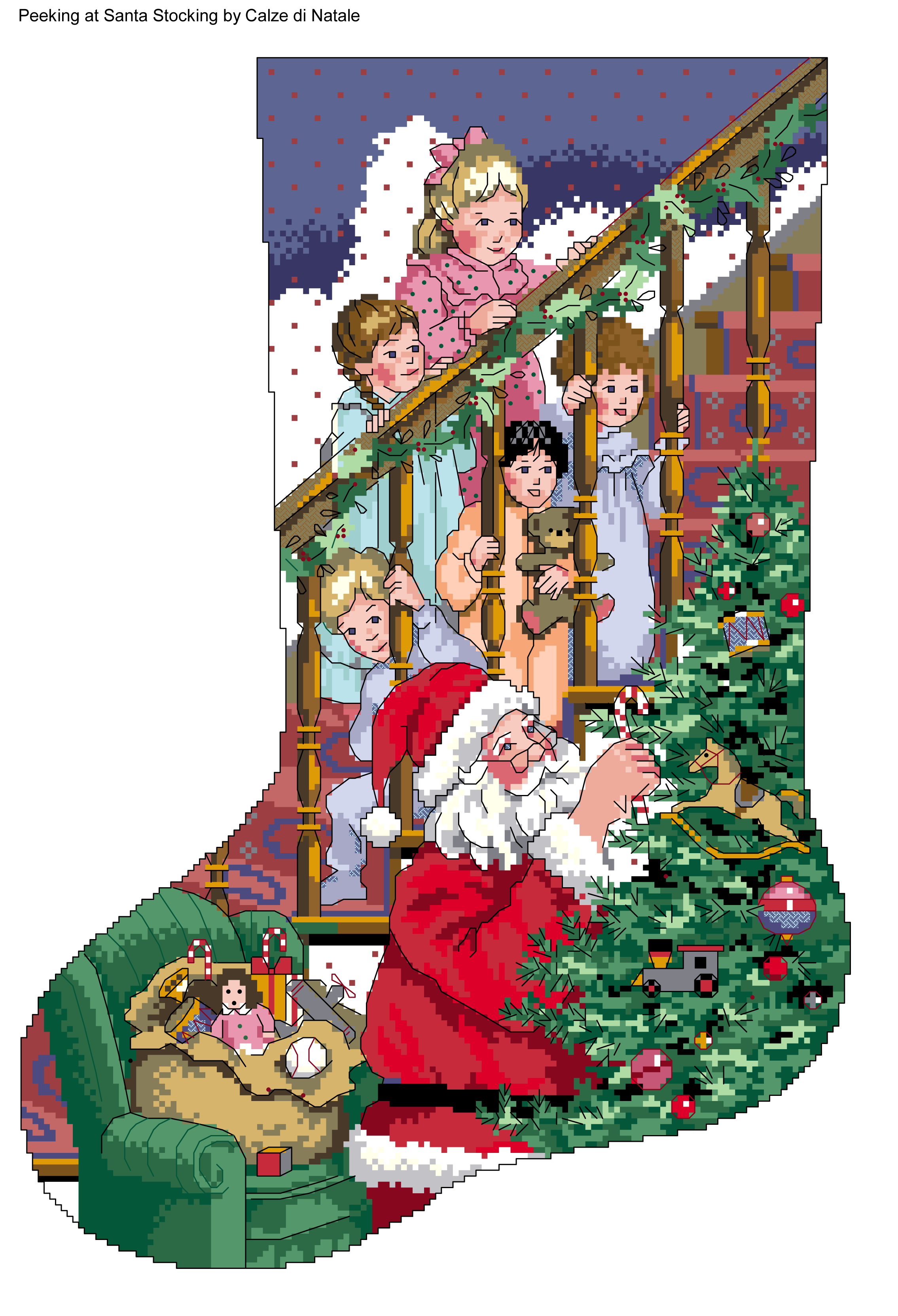 Christmas stockings fireplace clipart jpg royalty free Peeking at Santa Stocking 1 | christmas | Pinterest | Santa, Cross ... jpg royalty free