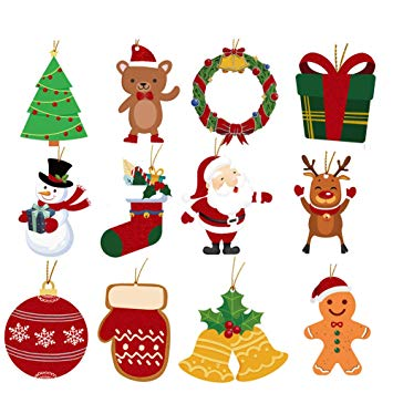 Christmas string tag clipart jpg free library Amazon.com: Christmas Gift Tags with String, Glitter Hanging Tag for ... jpg free library