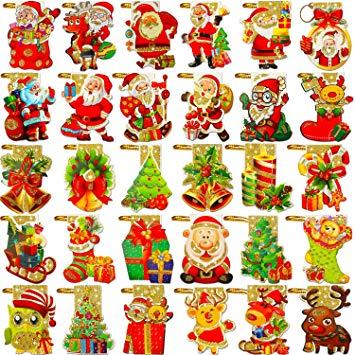Christmas string tag clipart image transparent Amazon.com: Phogary 240 Pieces Tags Christmas Tree Hanging Tag with ... image transparent