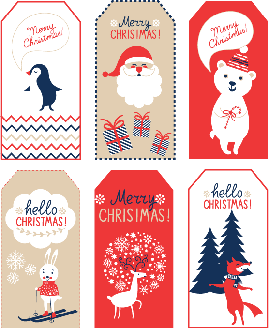 Snowflake gift tag clipart clipart 5 Tips for Cut Out Cookies + Free Christmas Tag Printable   Handmade ... clipart