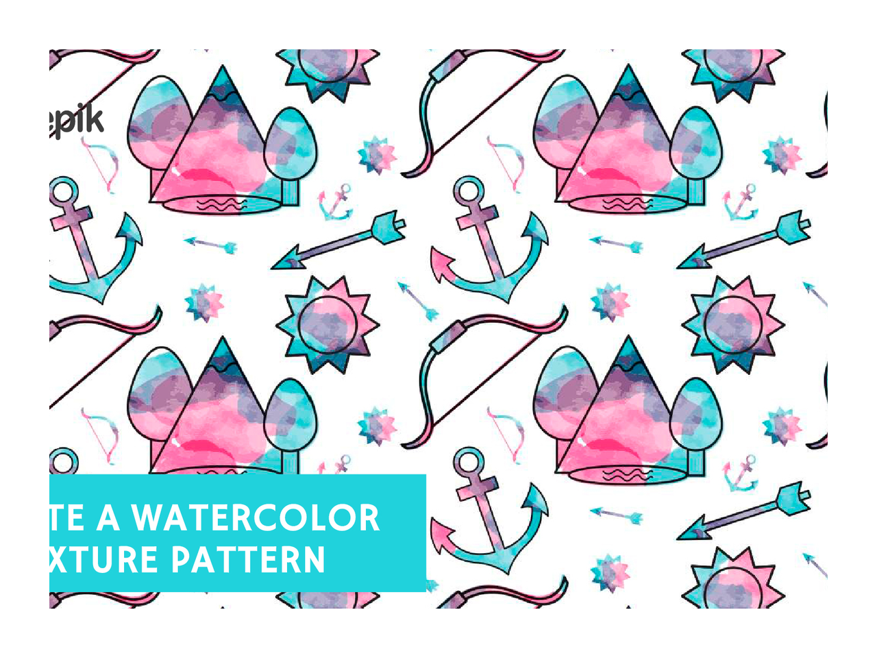 Pumpkin pie clipart pattern picture How to create a watercolor texture pattern – Free Adobe Illustrator ... picture