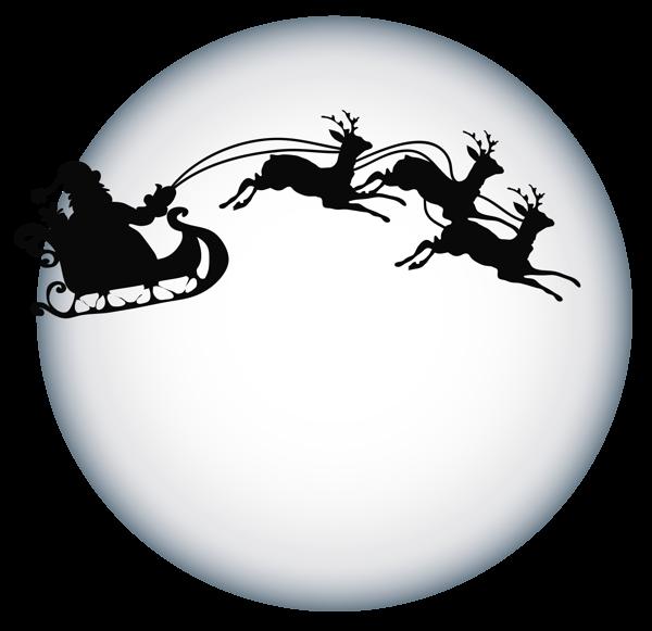Christmas tag clipart clip art library Santa Clause and Moon Shade Transparent PNG Clipart | Ir taču ... clip art library