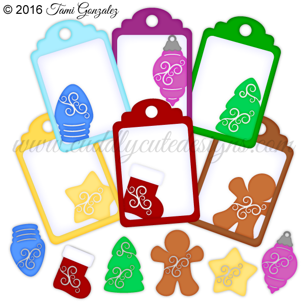 Christmas tags clipart clip art free stock Christmas clip art free stock