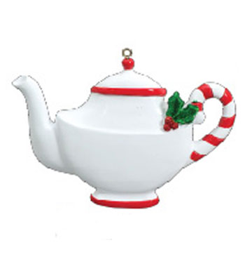 Tea pot clipart christmas graphic black and white stock Tea Pot Personalized Christmas Ornament graphic black and white stock