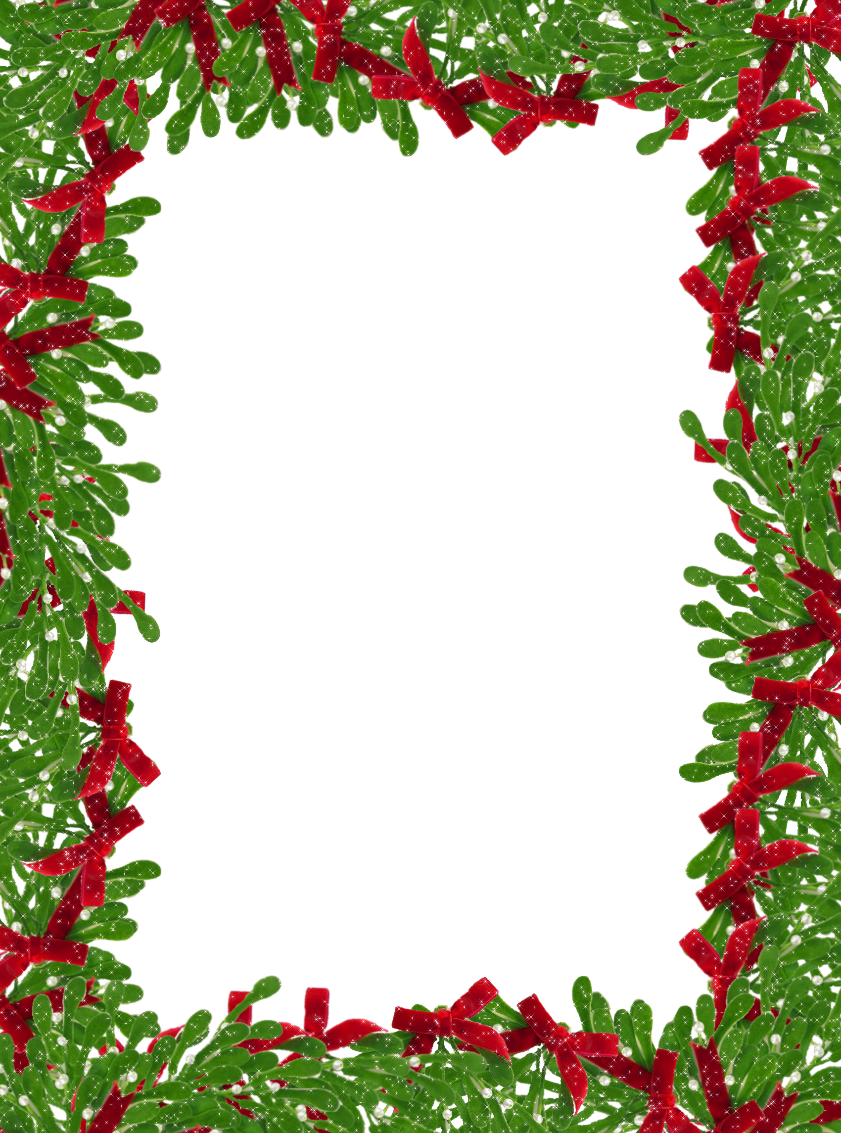 Free christmas clipart borders for word svg free library Christmas Greens Border Clipart svg free library