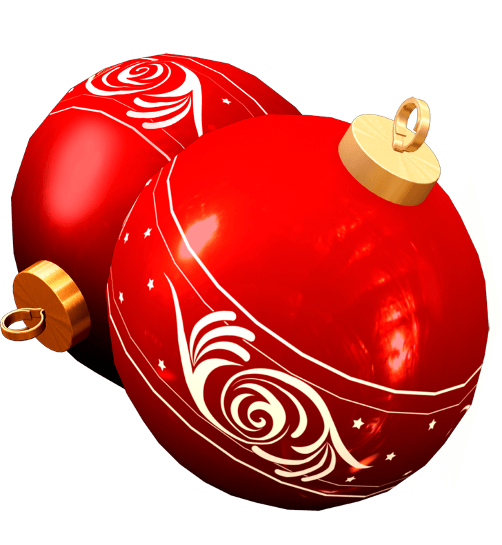 Christmas toy clipart jpg freeuse Two Red Christmas Ball Toy Png Image jpg freeuse