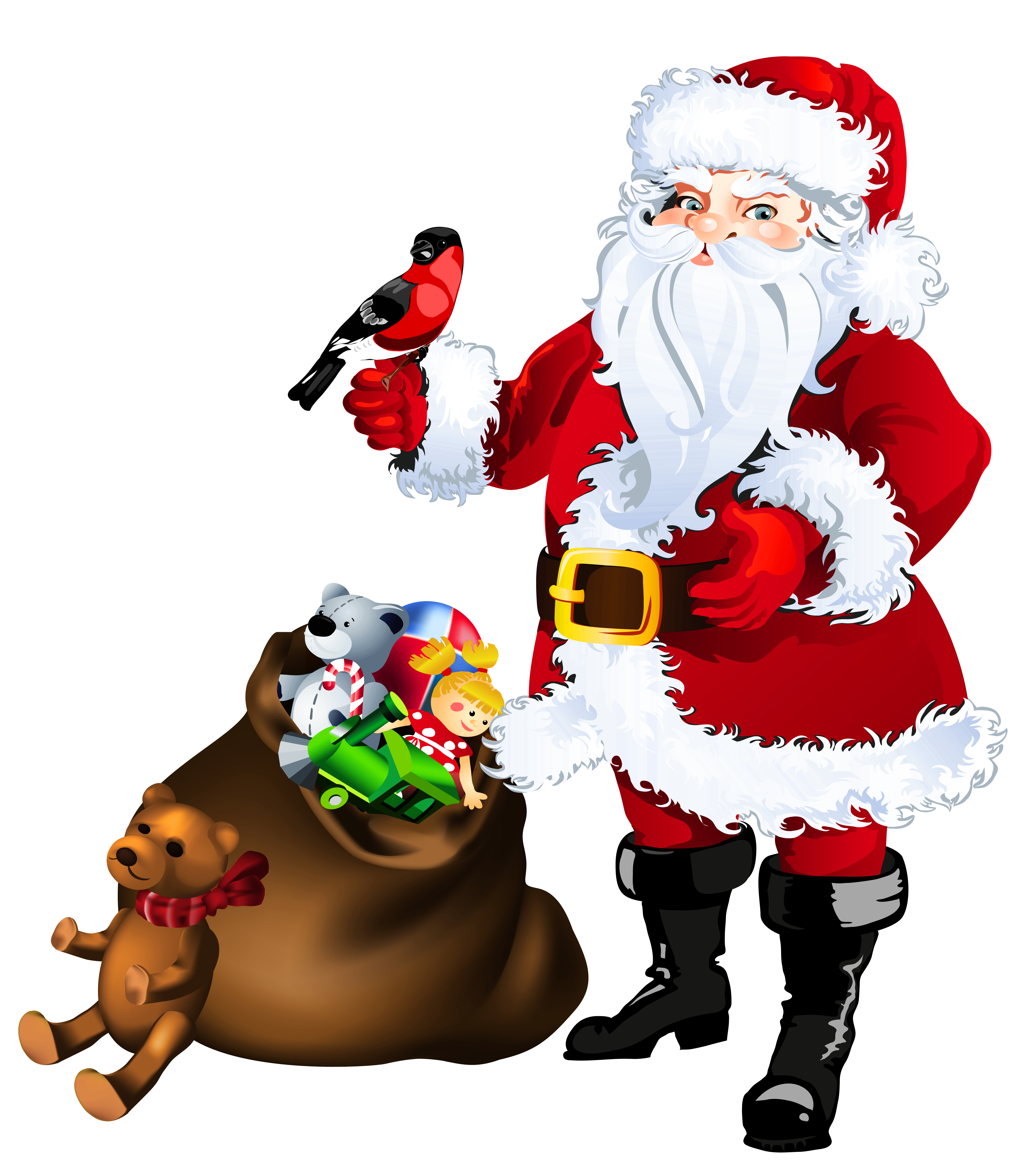 Christmas toy clipart png free Transparent Santa Claus with Toys Clipart | Gallery Yopriceville ... png free