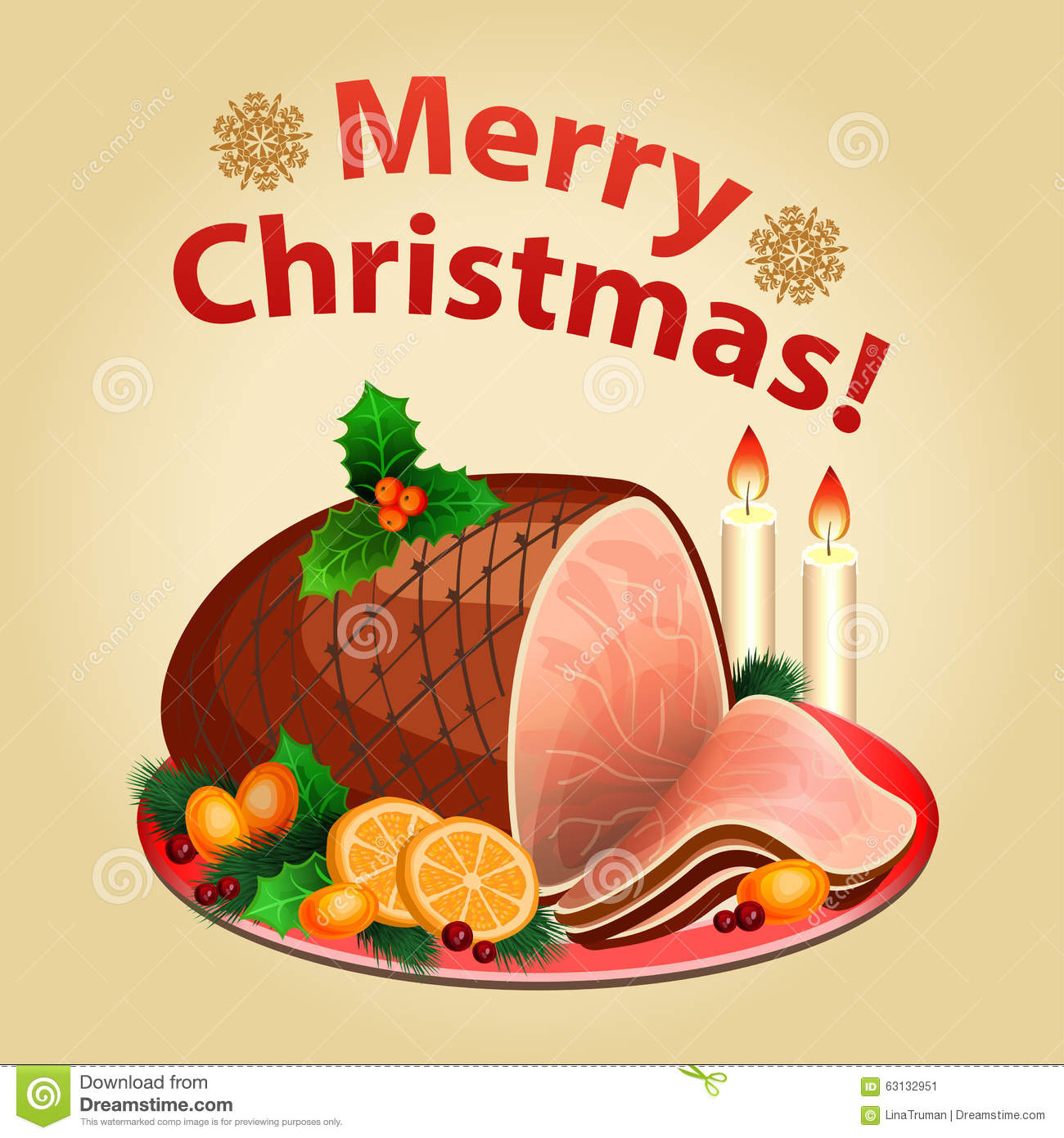 Christmas traditions in the united states clipart banner Christmas Dinner, Traditional Christmas Food-Christmas Ham Stock ... banner