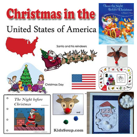 Christmas traditions in the united states clipart free stock Christmas in the USA Ideas for the Classroom | KidsSoup free stock