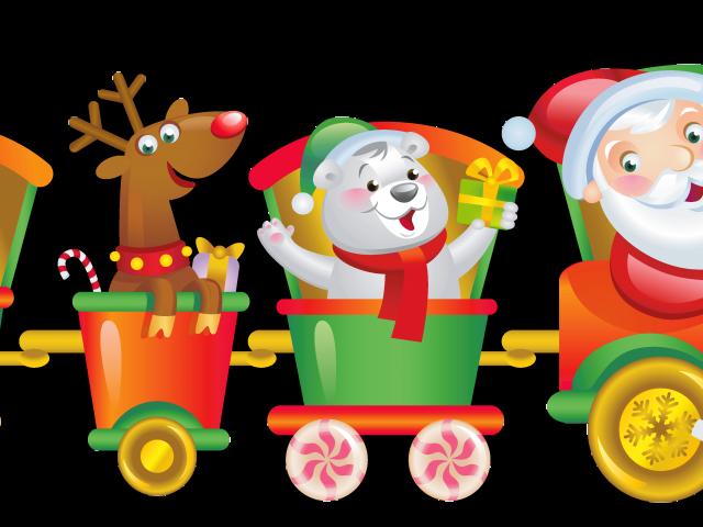 Christmas train clipart vector royalty free library Christmas Train Clipart 1 - 8000 X 2367   carwad.net vector royalty free library
