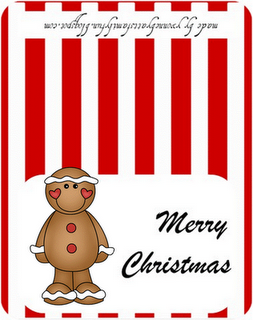 Christmas treat bag clipart graphic free library GINGERBREAD MAN FAVORS / FREE PRINTABLE BAG TOPPER   CHRISTMAS PARTY ... graphic free library