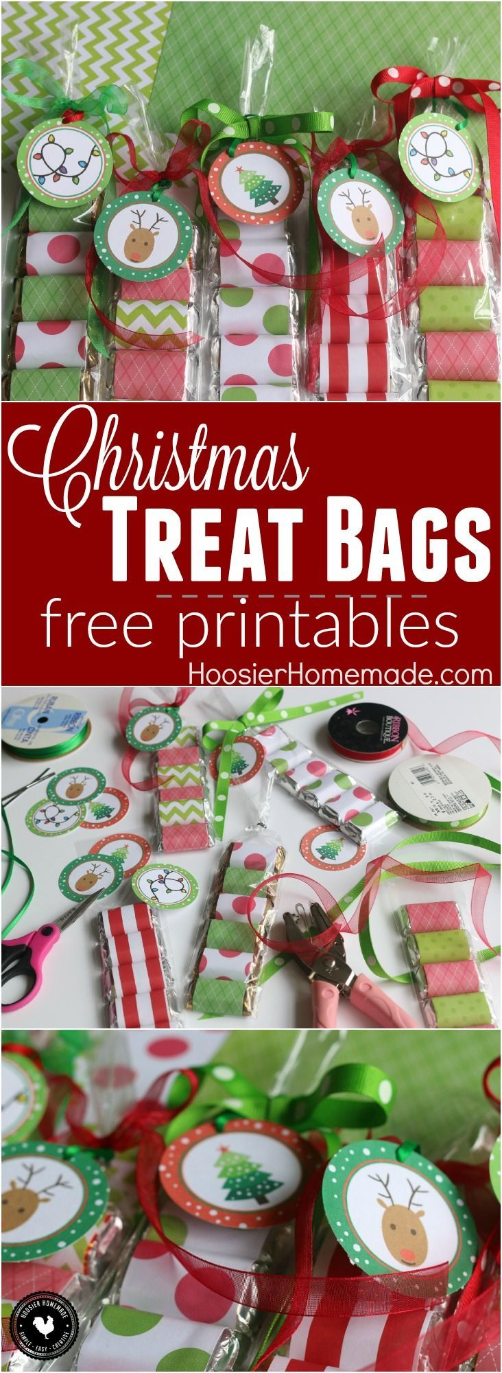 Christmas treat bag clipart picture transparent stock These adorable Christmas Treat Bags take minutes to make and yes ... picture transparent stock